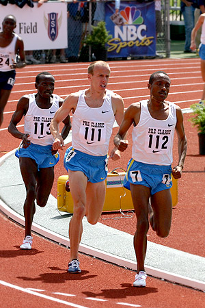 Alan Webb (#111) in the two-mile race